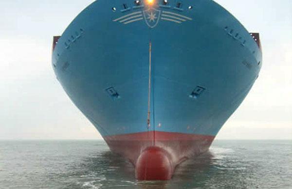 Elly Maersk bow