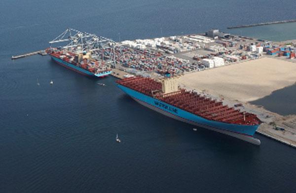 Emma Maersk port