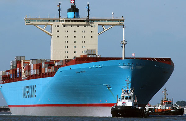 Emma Maersk bow