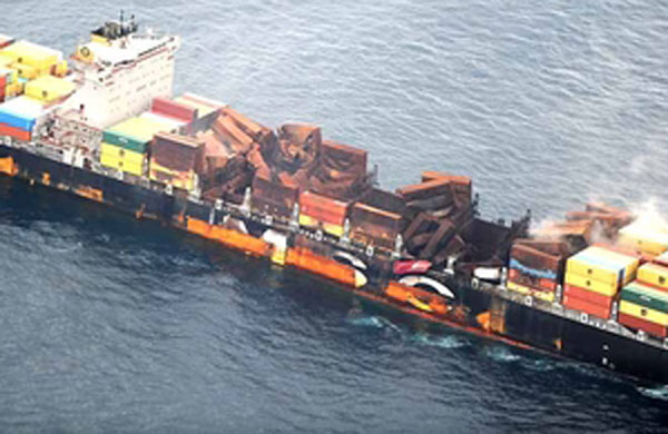MSC Flaminia damages