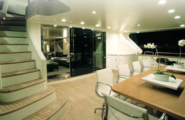 Yacht Eclipse lobby